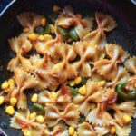 quick and healthy corns Alfredo Pasta recipe|quick pasta dinner