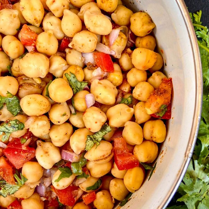 10 minutes vegan chickpea salad recipe