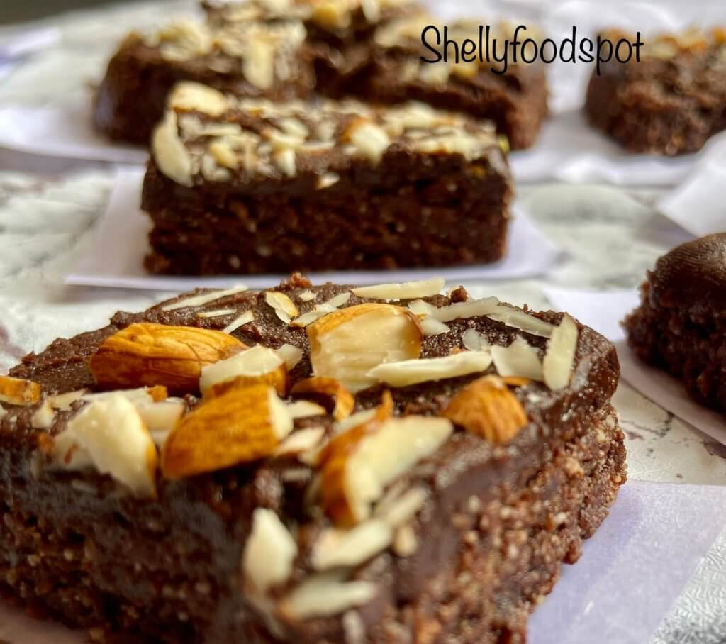 No bake healthy brownies recipe (eggless, gluten free)