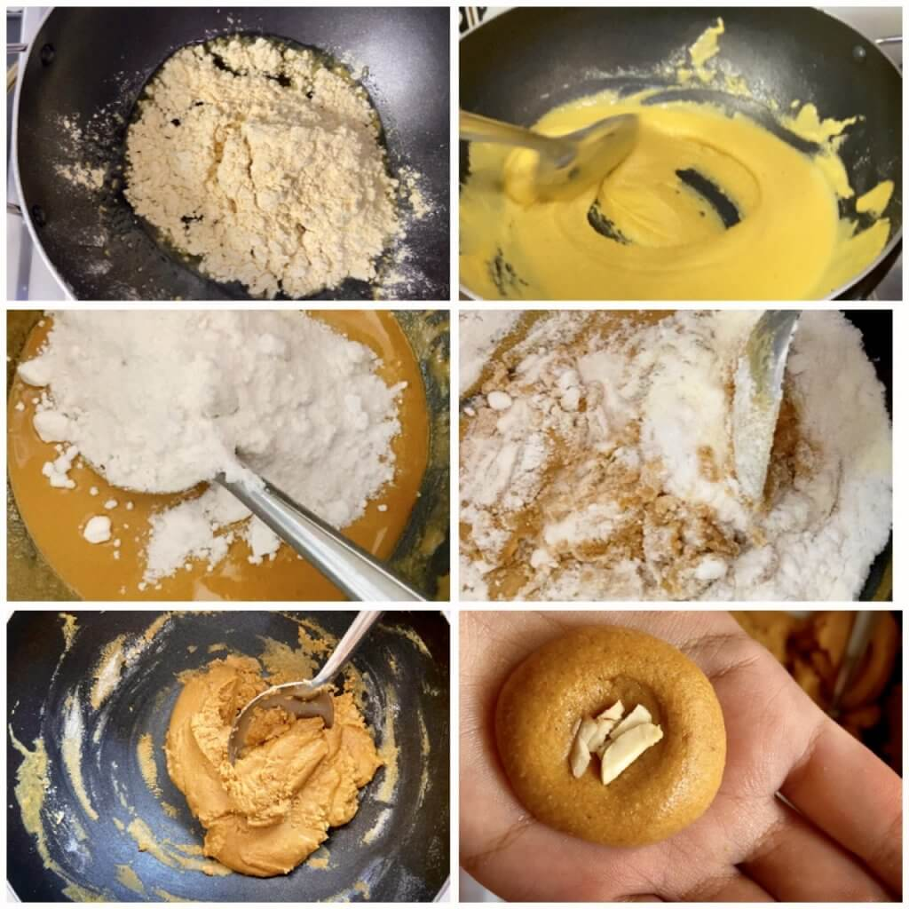 Step by step recipe of Besan ladoo