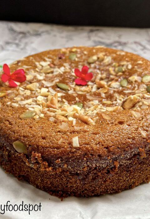 Eggless wheat cake with jaggeryso easy to make! 2