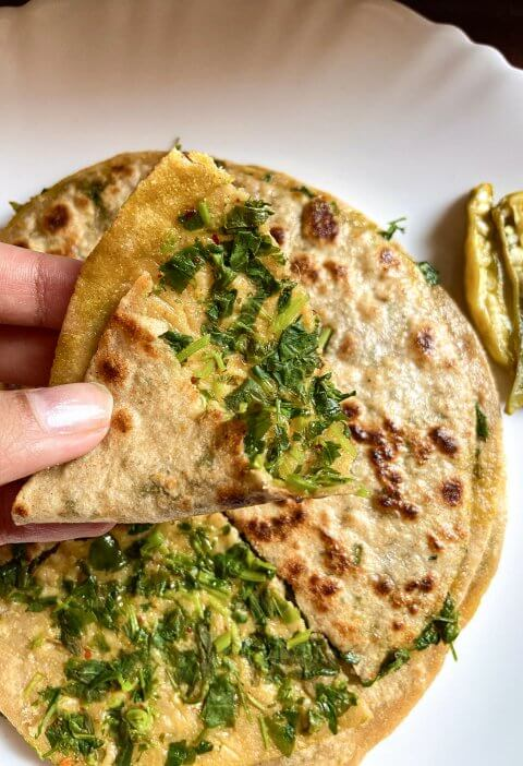 How to make methi paratha|stuffed methi paratha 2