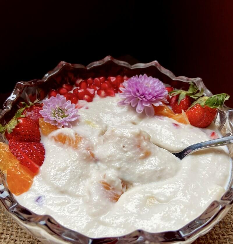 How to make fruit cream|fruit cream with malai 2
