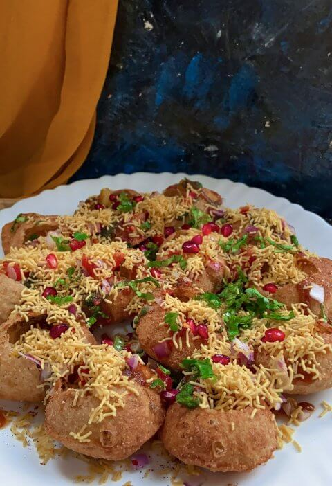 How to make sev puri|sev puri chaat recipe 3