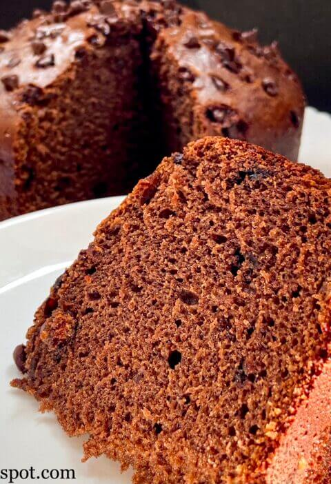 Eggless chocolate cake with condensed milk & oil