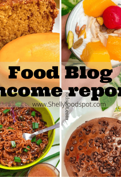 Indian food blog income report 2021
